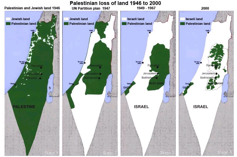 Map Of Israel And Palestine. israel-palestine-map